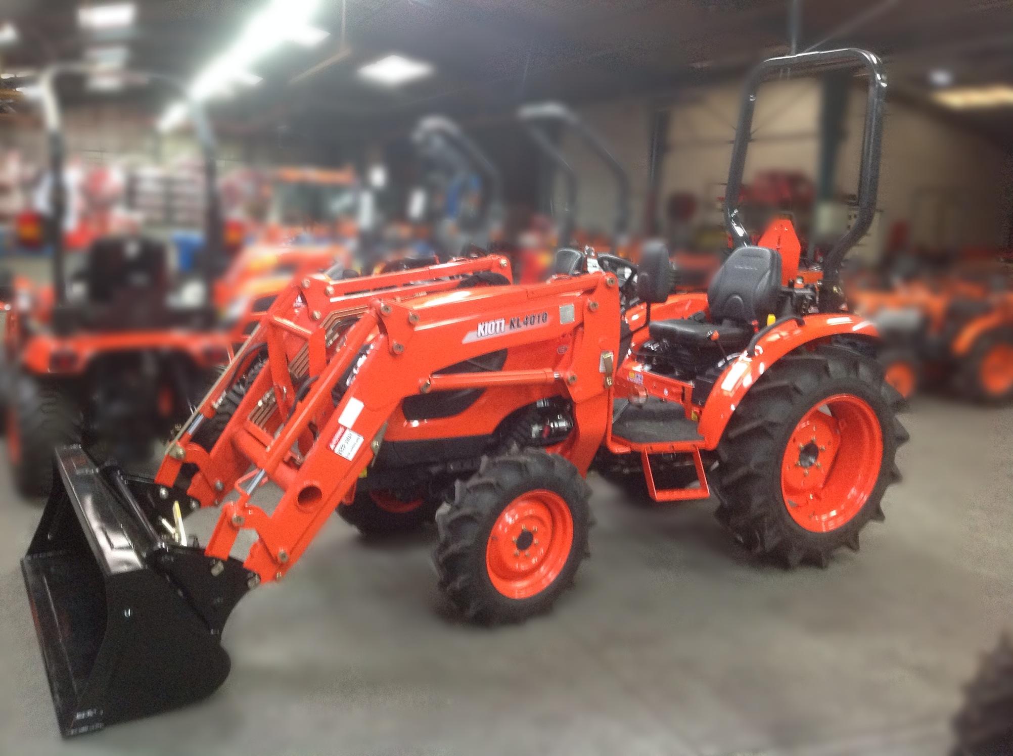 tracteur forestier kioti