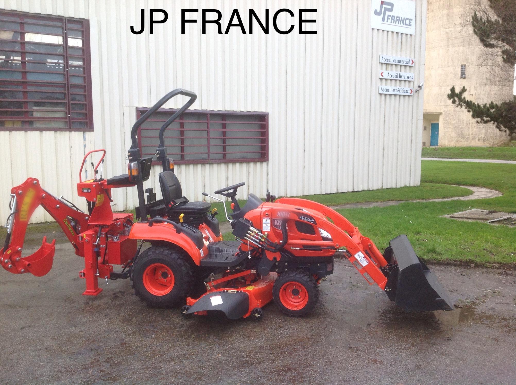 Jp france kioti 26cv hst chargeur tond ventrale pelle retro promotions promotions - Mini tracteur tondeuse ...